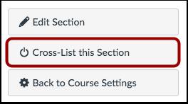 Cross-List Section