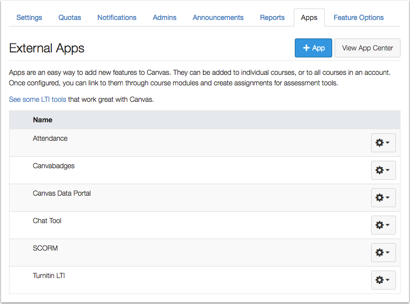 When would I use an External App?
