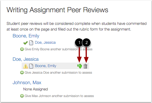 Manage Peer Review