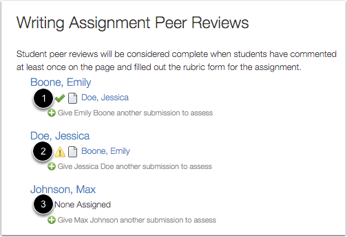 View Assigned Peer Reviews