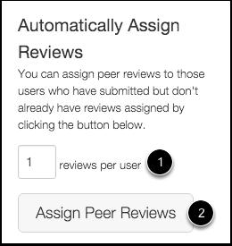 Assign Peer Reviews