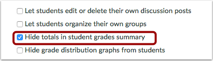Hide Totals in Student Grades Summary