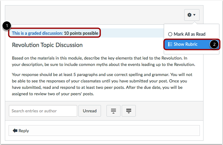 View Graded Discussion