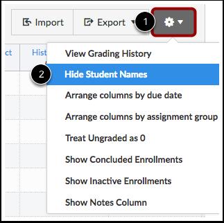 Hide Student Names