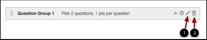 Modify Question Group