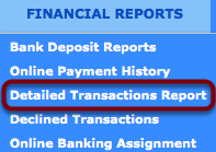 Option 1: Detailed Transaction Report