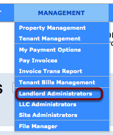 Landlord Admin