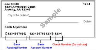 Image of sample check