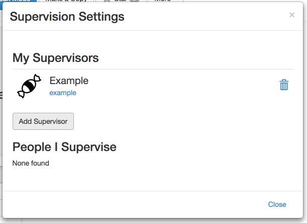 Supervision settings