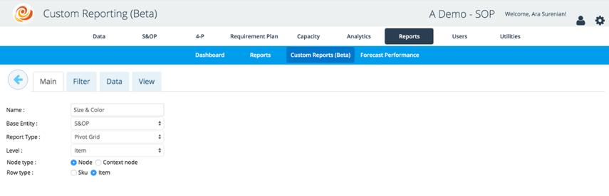 Pivot Grid Custom Report Option