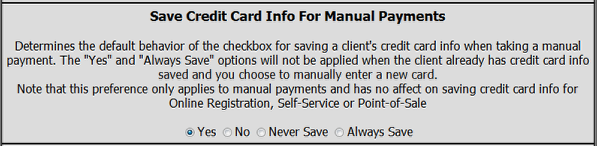 Save Credit Card Info For Manual Payments