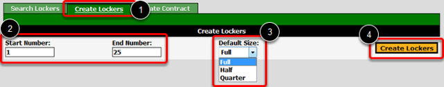 Create Lockers