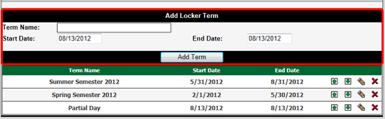 Add a Locker Term