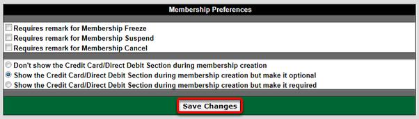 Membership Preferences