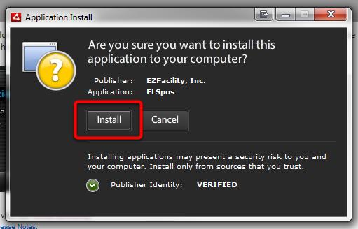Install P.O.S. Application