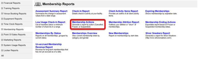 Membership Actions