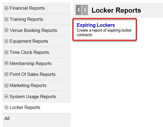 Lockers Reports