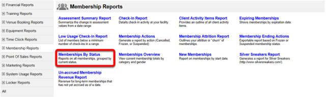 Memberships By Status