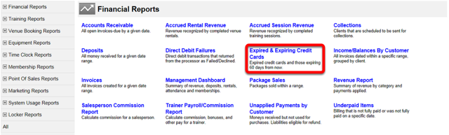 Expired & Expiring Credit Cards