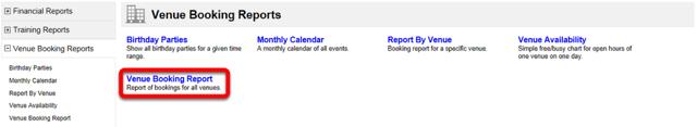Venue Booking Report