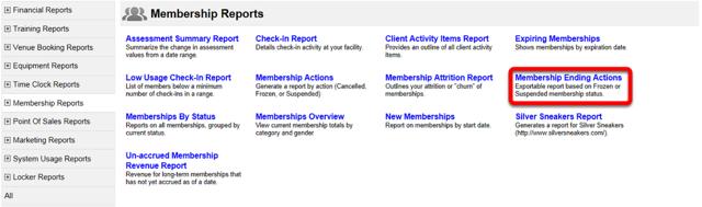 Membership Ending Actions