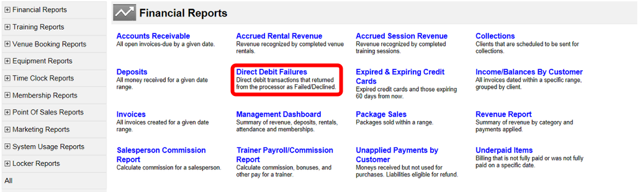 Direct Debit Failures