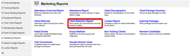 Client Retention Report