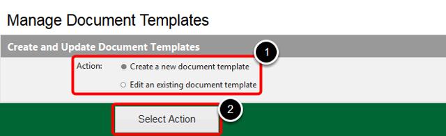 Manage Document Templates