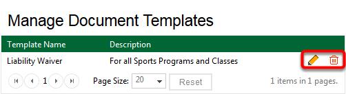 Edit Document Template