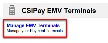 Manage EMV Terminals