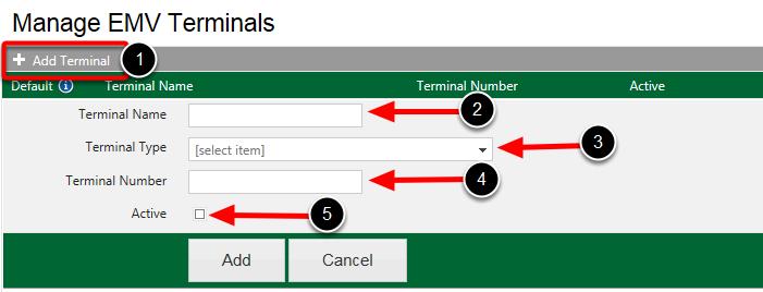 Add Terminal