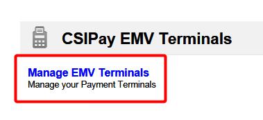 CSIPay EMV Terminals