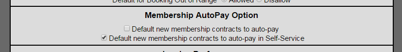 Membership AutoPay Option