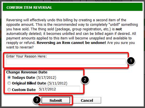 Confirm Item Reversal