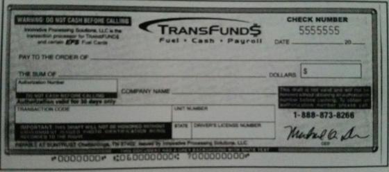 Transfund$ Check