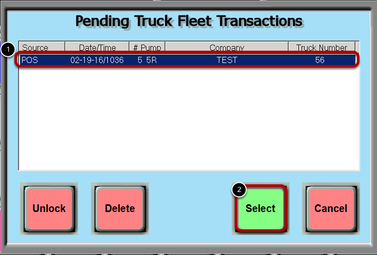 Select The Transaction