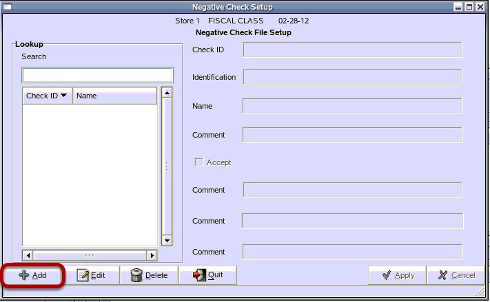 Add A New Person To The Negative Check File
