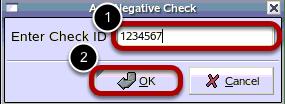 Enter Check ID