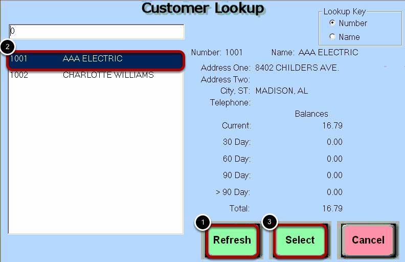 Lookup Customer Account