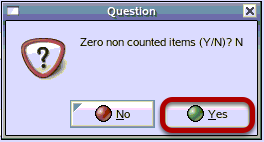 Zero Non Counted Items