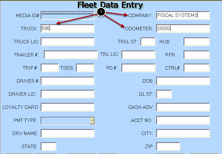 Fleet Data Entry