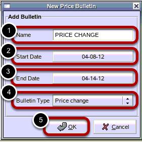 New Price Bulletin