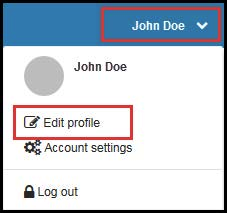 Focus Next Steps: Edit Profile Dropdown