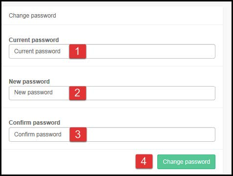 Focus Next Steps: Change password
