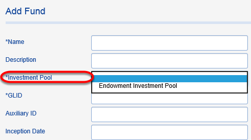 Choose an INVESTMENT POOL for your new fund.