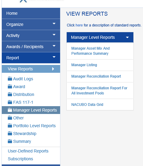 Once the period has been closed, run the MANAGER RECONCILIATION REPORT to see the detail by manager.