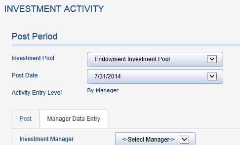 Choose your endowment pool.