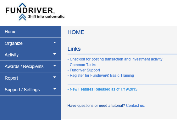 Log in to Fundriver.