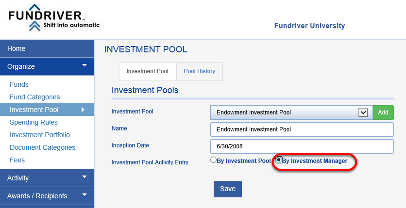 Switching from pool-level management to the Investment Portfolio Module is easy and can be done with the click of a button.