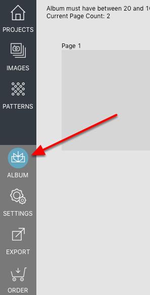 Change of Modify Album Size